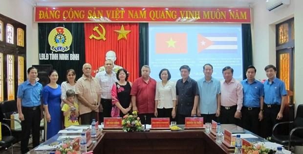 Cuban Workers' Federation delegation visits Ninh Binh hinh anh 1