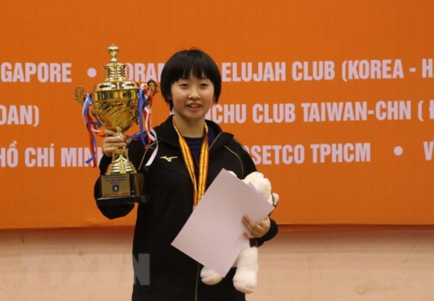 Japan triumphs at int'l table tennis tourney in HCM City hinh anh 1