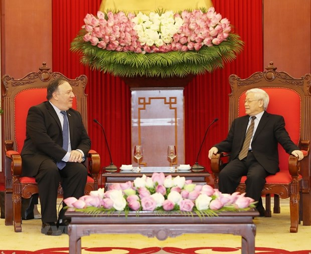 Party chief receives US Secretary of State hinh anh 1