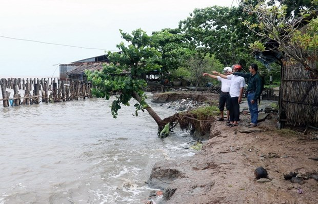 Kien Giang asks for government's support in fixing urgent coastal erosion hinh anh 1