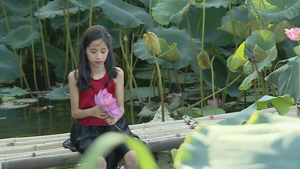Lotus flower shows tranquil charm in summer heat hinh anh 3