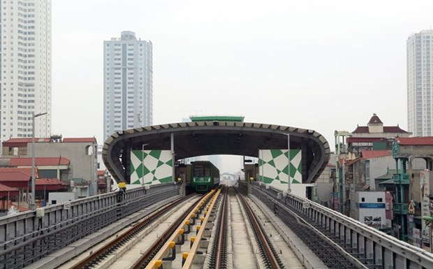 Cat Linh-Ha Dong railway connected to national grid for trial operation hinh anh 1
