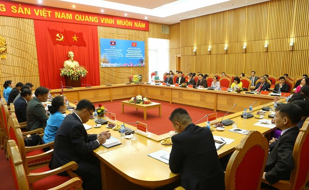 Vietnam, Laos ministries boost cooperation in youth, women, trade union affairs hinh anh 1