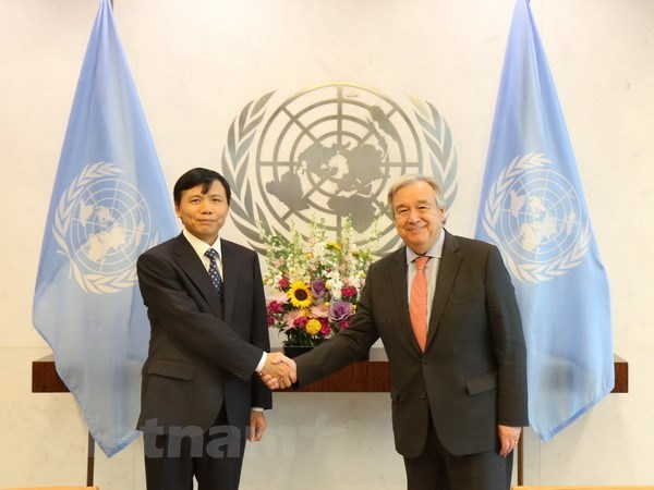 New Vietnamese Ambassador to UN presents credentials hinh anh 1