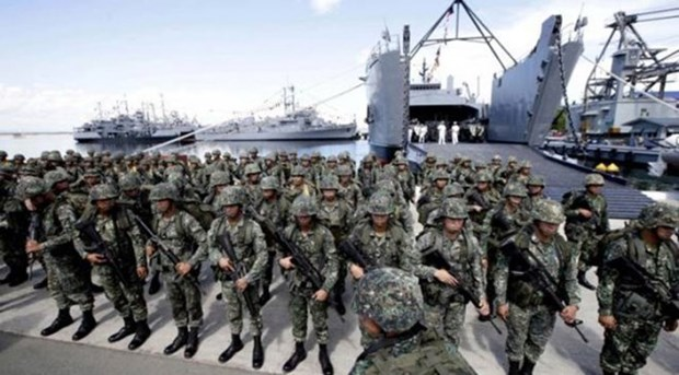 Philippines, Australia begin joint drills in Sulu Sea hinh anh 1