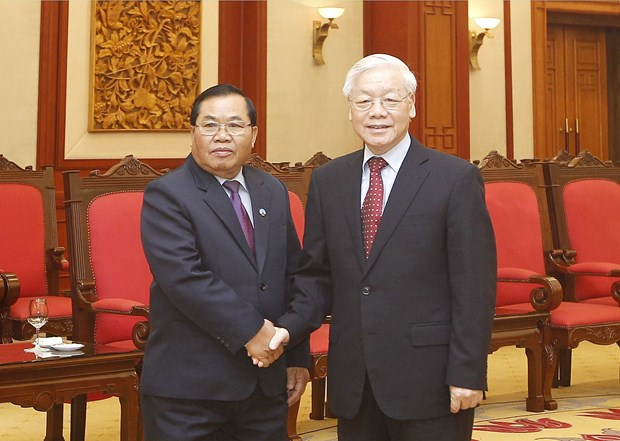 Party leader receives visiting vice chairman of Lao NA hinh anh 1