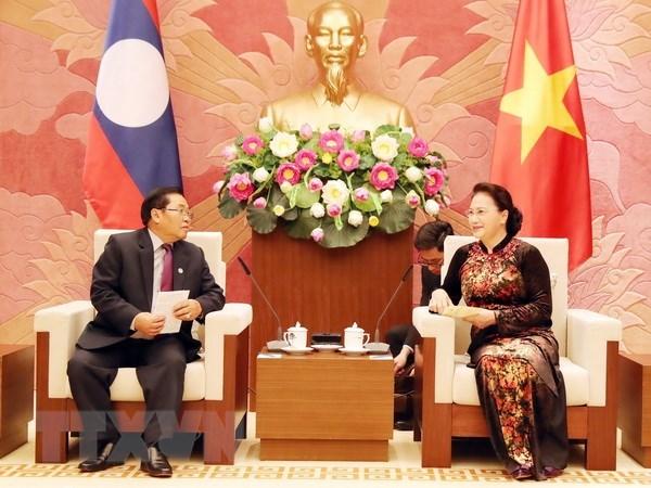 Vietnam's top legislator hosts Lao NA Vice Chairman hinh anh 1