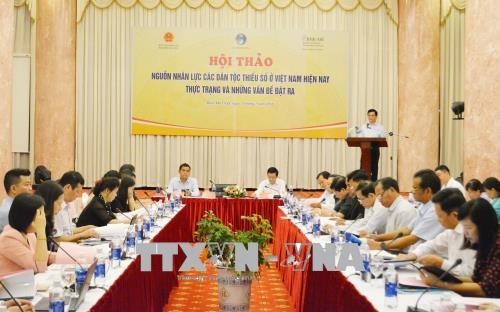 Workshop looks to develop human resources amongst ethnic minorities hinh anh 1