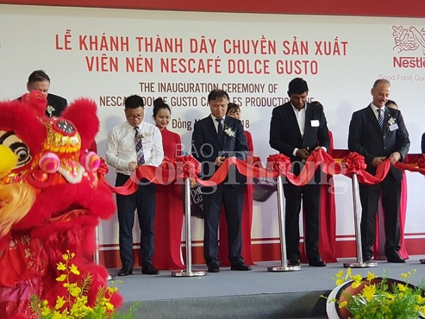 Nestle inaugurates new coffee capsule production line in Vietnam hinh anh 1
