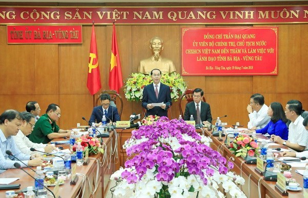 President urges Ba Ria-Vung Tau to use resources effectively hinh anh 1