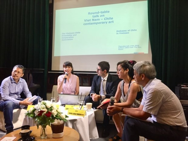 Vietnamese, Chilean artists discuss role of contemporary art hinh anh 1