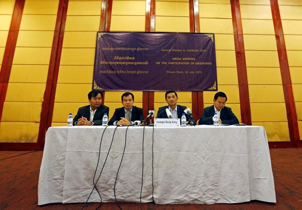 Cambodia: 220 international observers to monitor election hinh anh 1