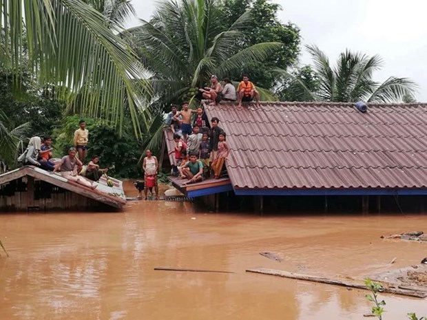 Vietnamese firm tries to take workers out of flooded area in Laos hinh anh 1