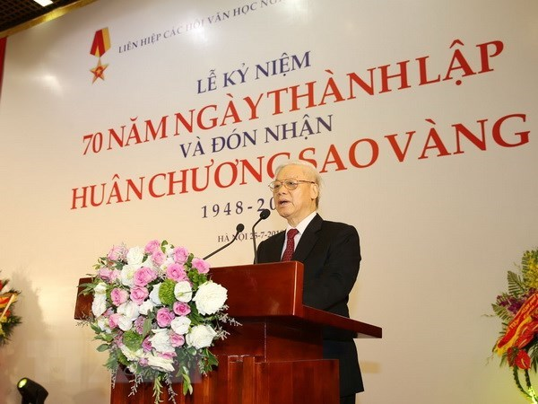 Gold Star Order conferred to Alliance of Arts and Literature Associations hinh anh 2