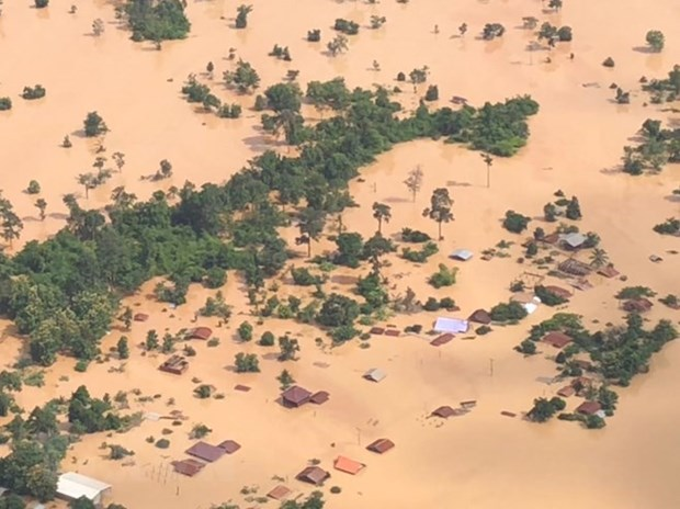 Dam collapse in Laos: Sanamxay declared emergency disaster zone hinh anh 1
