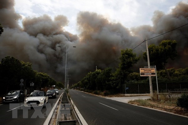 Vietnamese leaders send condolences to Greece over forest fire hinh anh 1