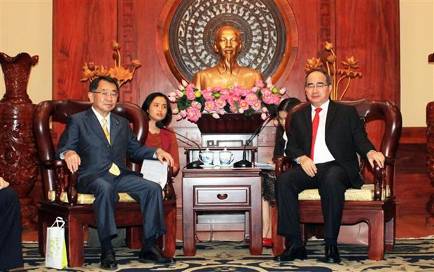 HCM City leader receives Japanese parliamentarians hinh anh 1