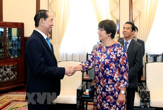President bids farewell to outgoing Belgian ambassador hinh anh 1