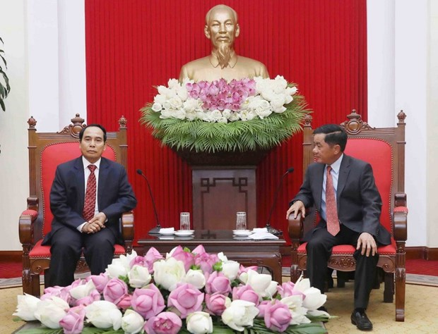 Vietnam, Laos boost cooperation in Party inspection work hinh anh 1