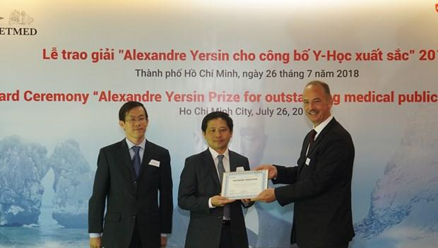 Winners of Alexandre Yersin Award honoured hinh anh 1
