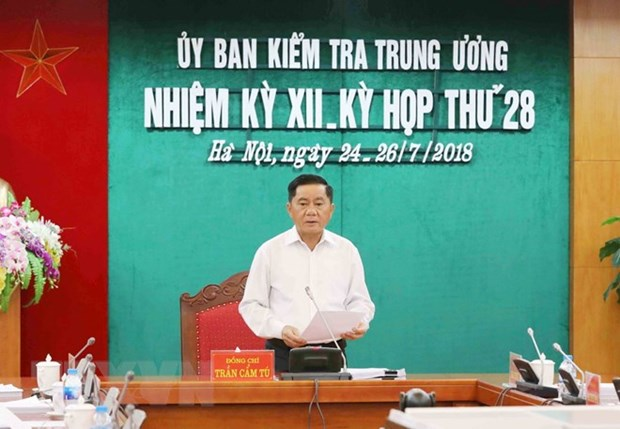 Party Central Committee's Inspection Commission holds 28th meeting hinh anh 1