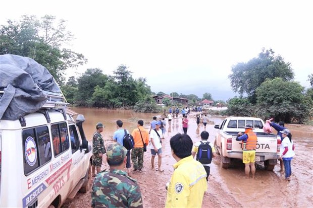 Lao dam collapse: more residents evacuated from flooded areas hinh anh 1