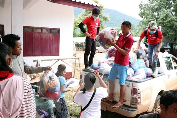 Laos: Crowded evacuation centres on alert for disease outbreaks hinh anh 1