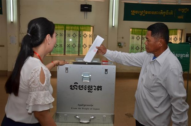 Cambodians cast ballots in general election hinh anh 1