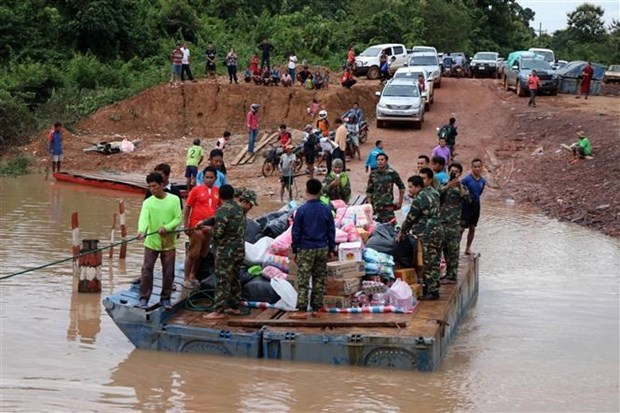 Thai government calls all people to donate for Lao victims of dam break hinh anh 1