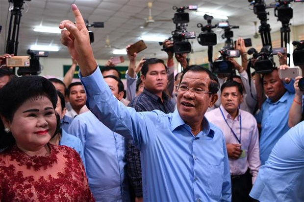 Ruling CPP wins majority of votes in Cambodia's general election hinh anh 1