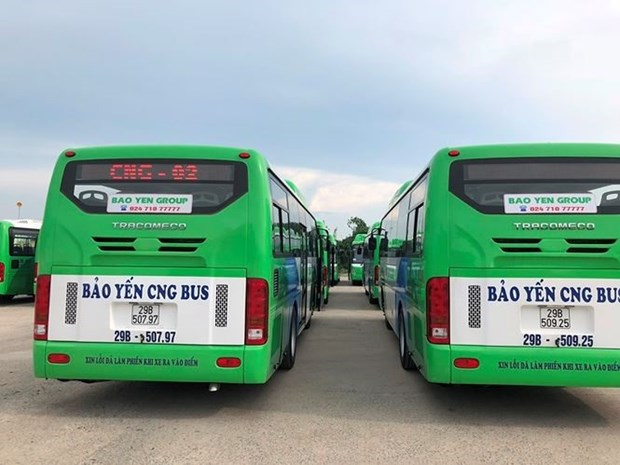 Hanoi to launch first CNG-fuelled bus routes hinh anh 1