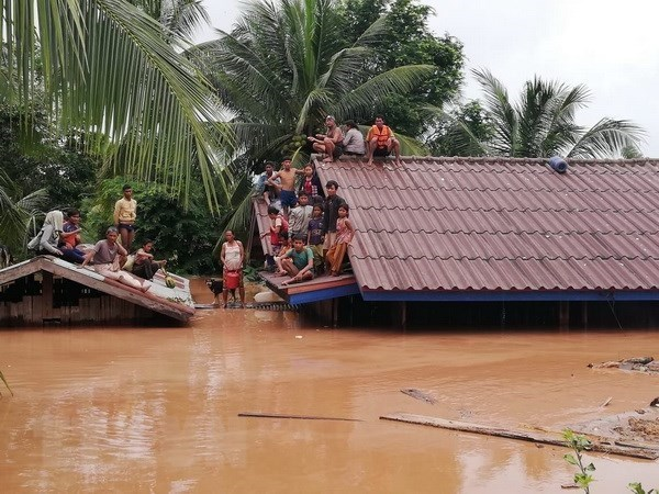 OVs in Laos raise funds in support of dam collapse victims hinh anh 1