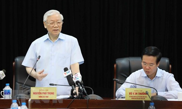 Party leader lauds information-education sector hinh anh 1