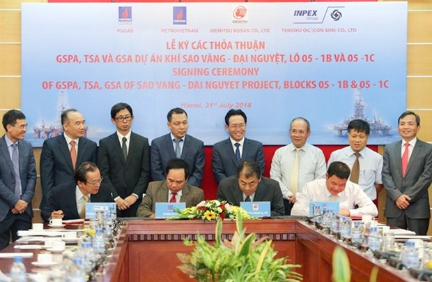 PetroVietnam signs deals on Sao Vang-Dai Nguyet gas field exploitation hinh anh 1