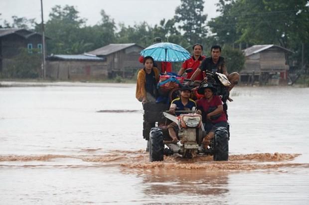 Laos temporarily bans activities in broken dam's vicinity hinh anh 1