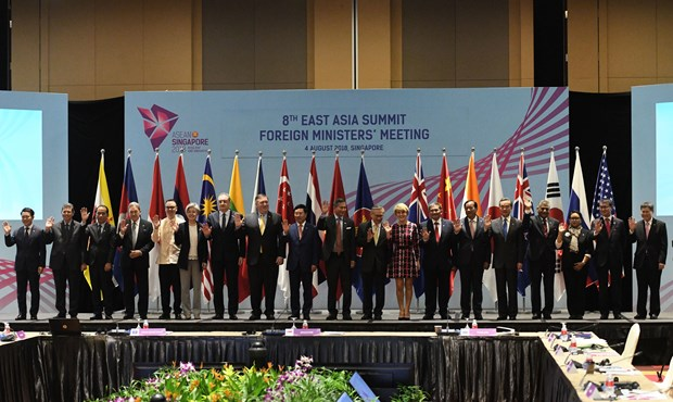 EAS Foreign Ministers' Meeting agrees to reinforce marine cooperation hinh anh 1