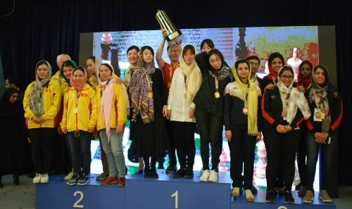 Vietnam's women win silver at Asian team chess championship hinh anh 1