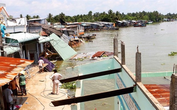 Mekong Delta province works to prevent coastal erosion hinh anh 1