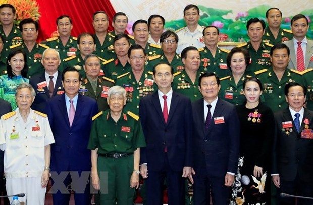 President lauds war veterans for contributions to socio-economic development hinh anh 1
