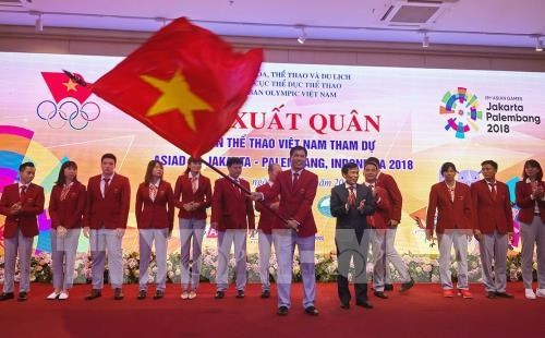 Ceremony sees off Vietnamese sport delegation to Asian Games 2018 hinh anh 1