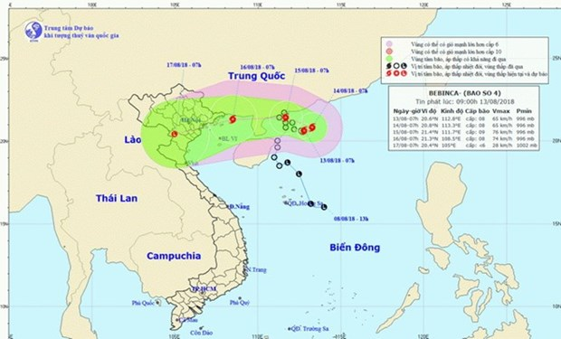 Storm Bebinca to cause heavy rains in northern region hinh anh 1