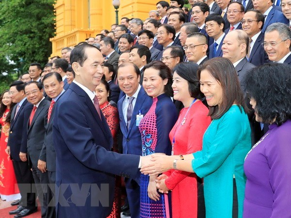 President lauds contributions of chief representatives abroad hinh anh 1