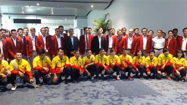 ASIAD 18: Vietnamese delegation receives warm welcome from host Indonesia hinh anh 1