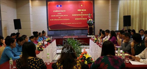 Women's Unions of Quang Nam, Laos' Sekong foster cooperation hinh anh 1