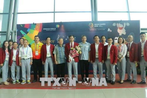 ASIAD 2018: Hundreds of athletes already arrive in Palembang hinh anh 1