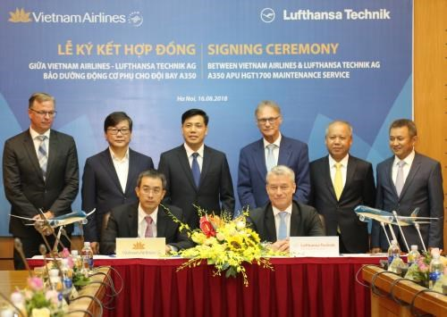 German firm to provide technical support for Vietnam Airlines' fleet hinh anh 1