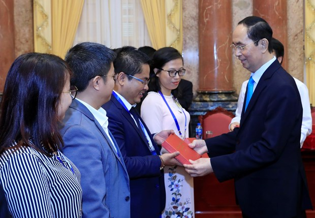President highlights role of overseas Vietnamese scientists hinh anh 1