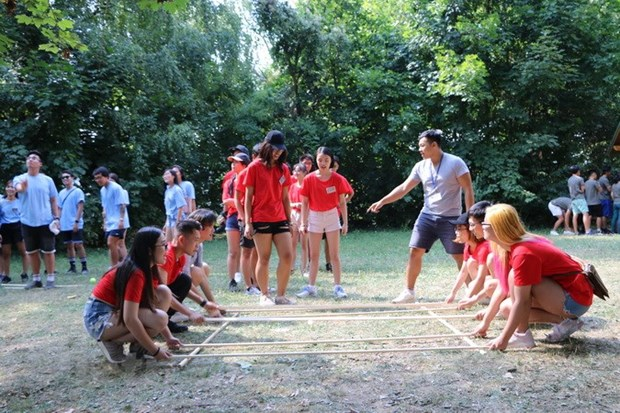 Summer camp of Vietnamese youth in Europe opens in Hungary hinh anh 1