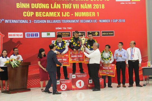 Vietnamese cueist wins title at Becamex IJC Cup 2018 hinh anh 1