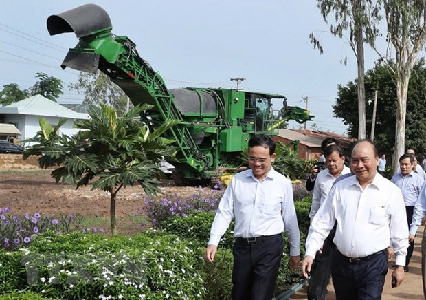 PM visits high-tech agricultural models in Tay Ninh hinh anh 1